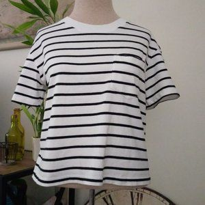 Madewell Short Sleeve Stripe Top - Size S